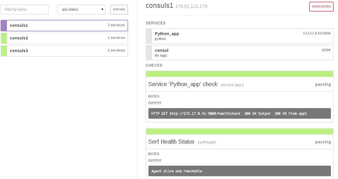 Building an automatic environment using consul and docker for Consul in docker